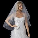 Elegance by Carbonneau VP-F Bridal Wedding Double Layer Fingertip Length Pencil Edge Veil VR F