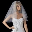 Elegance by Carbonneau VP_S Bridal Wedding Double Layer Shoulder Length Pencil Edge Veil VP S