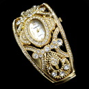 Elegance by Carbonneau Watch-10G Gold or Silver Rhinestone Crystal Bridal Watch 10