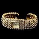 Elegance by Carbonneau Watch-23-G-CL Gold Clear Round Rhinestone Watch 23