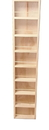 """WG Wood Products COL-355-14w-3.5d 55"""" Collins - On the wall spice rack  - 14w - 3.5"""" deep"""
