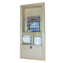 WG Wood Products MR-10 In the wall magazine rack with double toilet paper and storage cubby