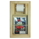 WG Wood Products MR-14 Bevel Frame Recessed magazine rack/toilet paper combo