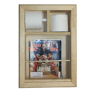 WG Wood Products MR-15 Bevel Frame In the wall magazine rack/TP combo