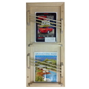 WG Wood Products MR-23 Double Contemporary magazine rack