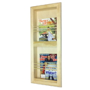 WG Wood Products MR-9 Double Bevel Frame Recessed magazine rack