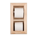 WG Wood Products TP-12 Bevel frame toilet paper holder with spare roll