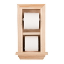 WG Wood Products TP-18 In the wall toilet paper holder with ledge 2