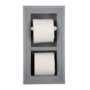 WG Wood Products TP-5 Recessed toilet paper holder with spare roll