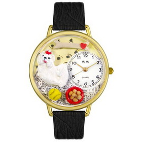 Whimsical Watches Maltese Gold Watch