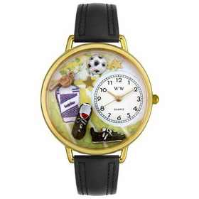 Whimsical Watches Soccer Gold Watch
