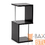 Baxton Studio FP-2Tier-Display Lindy Dark Brown Modern Display Shelf (2-Tier)