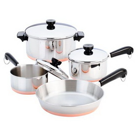 REVERE 1042262 Copper Clad 7-pc Cookware Set