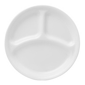 "CORELLE 1050513 Livingware Winter Frost White 10 1/4"" Divided Dinner Plate"