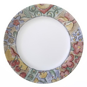 "CORELLE 1054263 Livingware Watercolors 10 3/4"" Dinner Plate"
