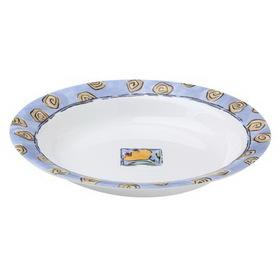 CORELLE 1055250 Livingware Watercolors 15-oz Rimmed Soup / Salad Bowl