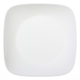 "CORELLE 1069961 Square Pure White 10 1/4"" Dinner Plate"