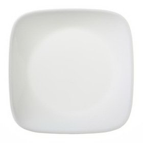 "CORELLE 1075553 Square Pure White 6 1/2"" Bread & Butter Plate"