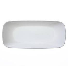"""CORELLE 1077748 Square Pure White 10 1/2"""" Appetizer Plate"""