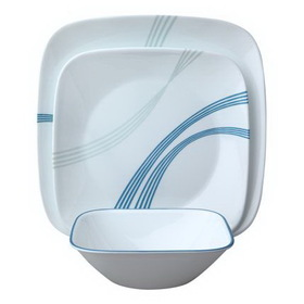 CORELLE 1083206 Square Ocean Arc 16-pc Dinnerware Set