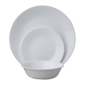 CORELLE 1088609 Livingware Winter Frost White 18-pc Dinnerware Set