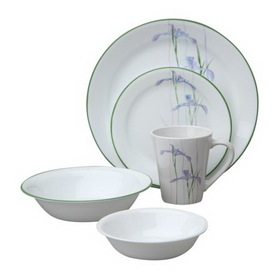CORELLE 1088663 Impressions Shadow Iris 30-pc Dinnerware Set
