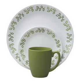 CORELLE 1089407 Livingware Neo Leaf 16-pc Dinnerware Set