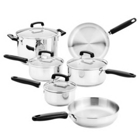 REVERE 1095185 10-pc Stainless Steel Set