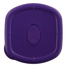 PYREX 1106724 Storage Deluxe Plum 4.5-cup Square Plastic Lid