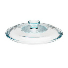 CORNINGWARE 5313582 French White 2 1/2-qt Fluted Round Glass Lid