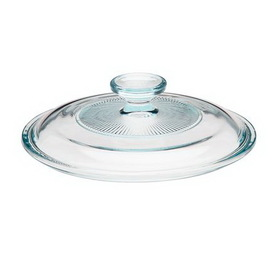 CORNINGWARE 5313586 French White 1 1/2-qt Fluted Round Glass Lid