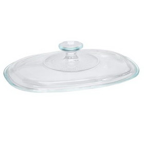 CORNINGWARE 5313588 French White Fluted Oval Glass Lid