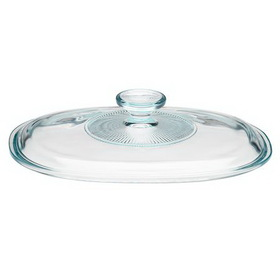CORNINGWARE 5313590 French White 1 1/2-qt Oval Glass Lid