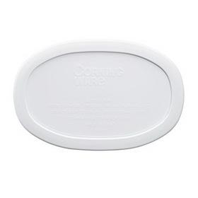 CORNINGWARE 6017963 French White 15-oz Oval Plastic Lid