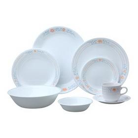 CORELLE 6022434 Livingware Apricot Grove 76-pc Dinnerware Set