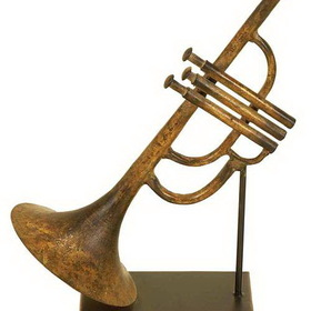"Woodland 13022 METAL TRUMPET 11""H, 7""W, Price/Each"