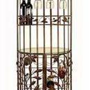 Woodland 50017 Metal N Glass Wine Cabinet 72
