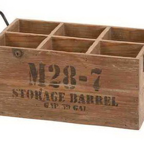 Woodland 51662 WOOD WINE CRATE, Price/Each