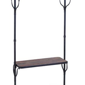 Woodland 56117 Clothing Rack With Multiple Hooks And Shelves, Price/piece