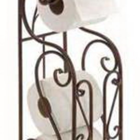 Woodland 63149 Designer Metal Toilet Paper Holder With Magazine Rack