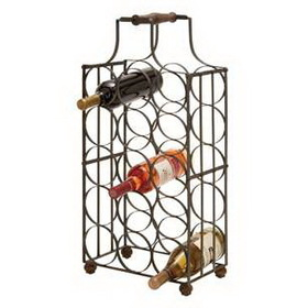 "Woodland 63341 Sheet Metal Wine Holder 26""H, 12""W"