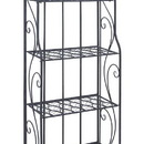 Woodland 63376 Bakers Rack with Classic Design in Black Matte Finish