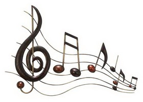 "Woodland 64292 Musical Notes Metal Wall Decor 26""x18"", Price/Each"