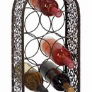 Woodland 69833 Metal Wine Rack Bottle Holder 10x 23.