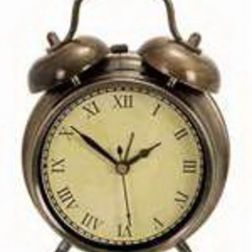 Woodland 72791 Table Clock In Antique Brass., Price/Each