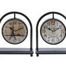 Woodland 92202 Metal Desk Clock Assorted in French Style (Set of 4)