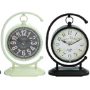 Benzara 92207 Creative Globe Styled Metal Desk Clock 4 Assorted