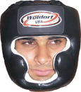 Woldorf USA  Head Gear in leather with chin protection, w087