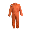 TopTie Men's Zip-Fronted Long Sleeve Workwear Twill Work Coveralls With Reflective Strips