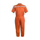 TopTie Men Zipper Workwear Short Sleeve Coverall Overall With Reflective Strips